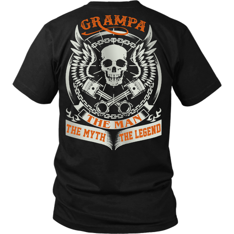 Grampa The Man The Myth The Legend T Shirts, Tees & Hoodies - Grandpa Shirts - TeeAmazing