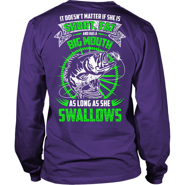As Long As She Swallows Fishing T-Shirt - Fishing Shirt - TeeAmazing - 6