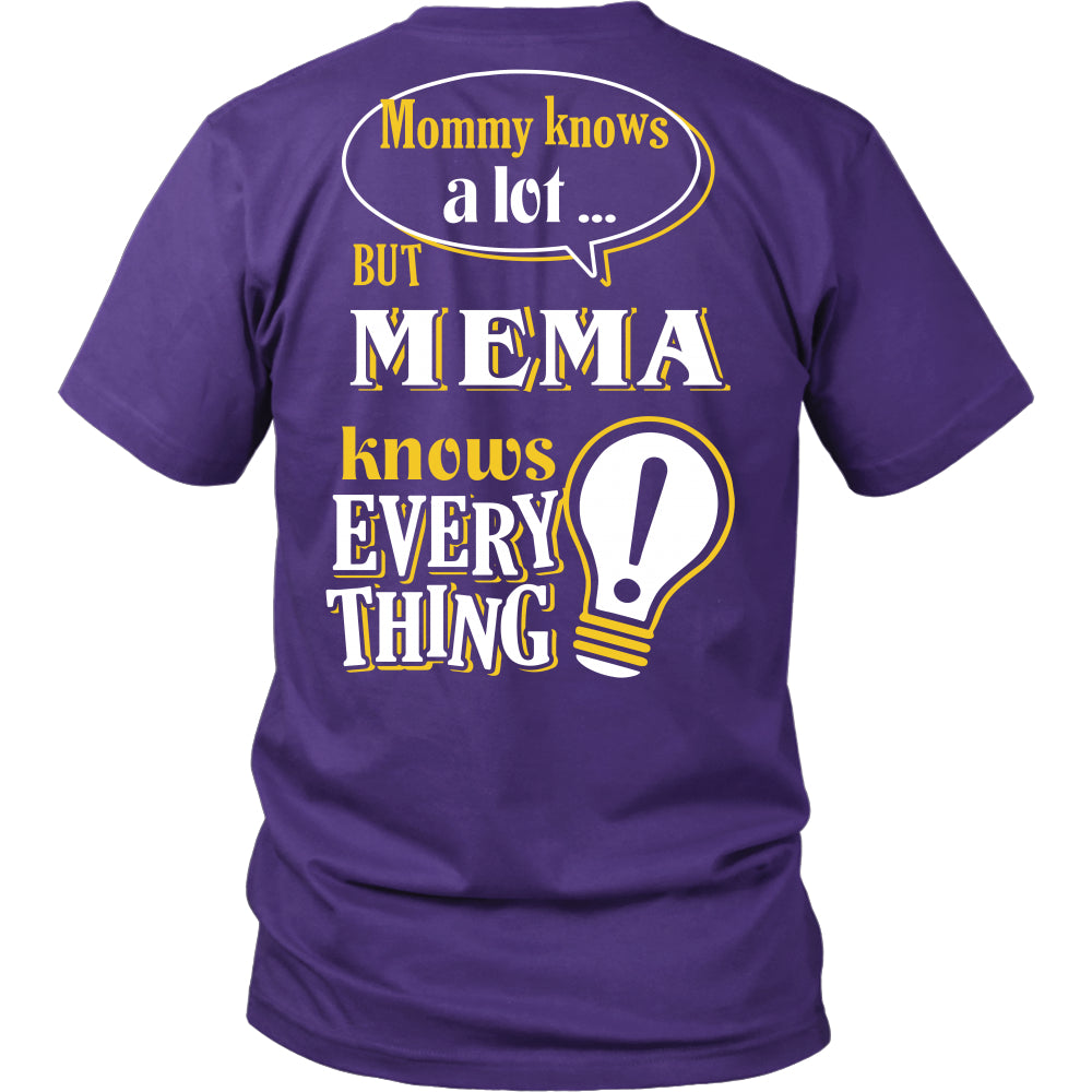 Mema Knows More T-Shirt -  Mema Shirt - TeeAmazing