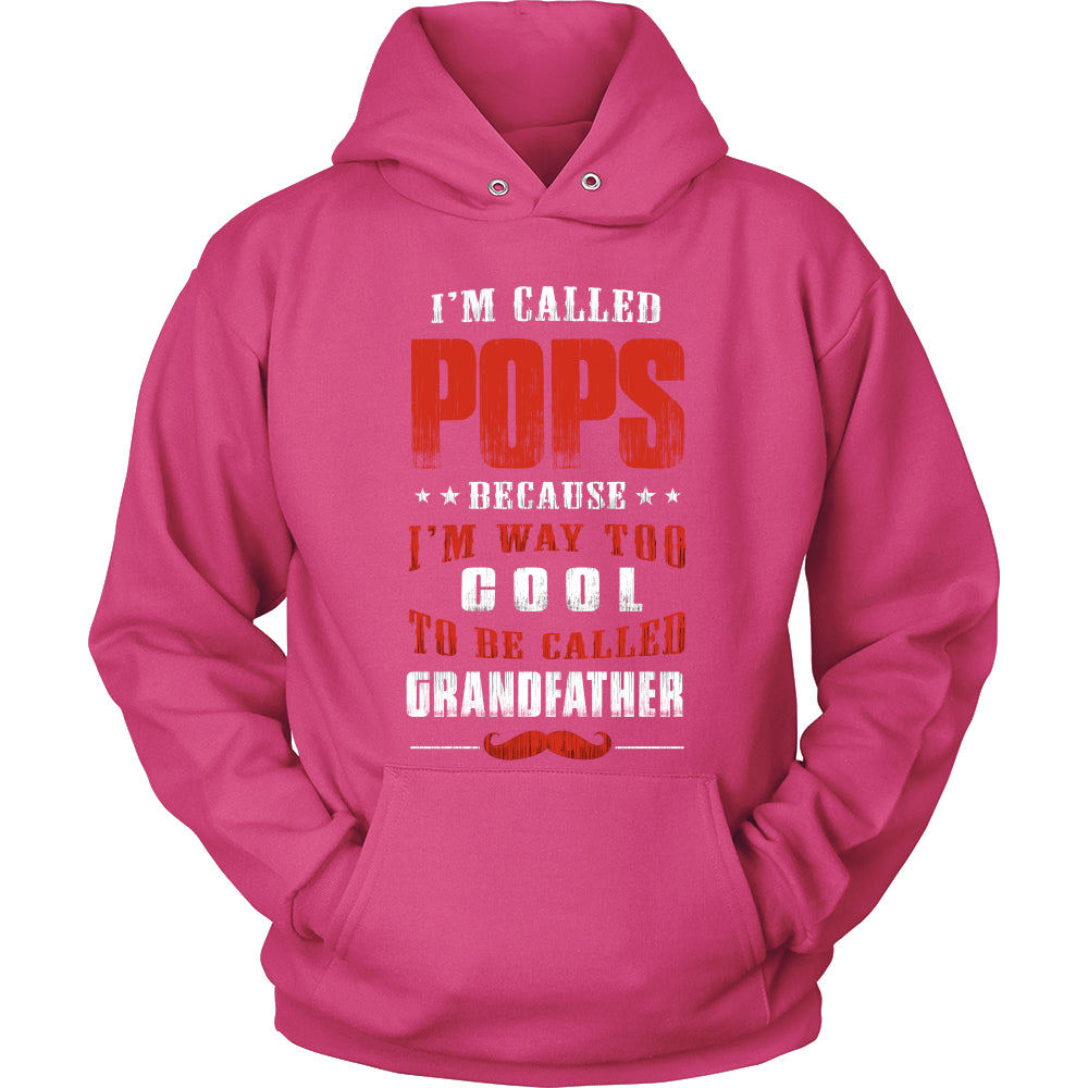 Pops Way Too Cool Grandfather T-Shirt - Pops Shirt - TeeAmazing