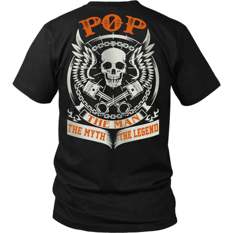 POP The Man The Myth The Legend T Shirts, Tees & Hoodies - Grandpa Shirts - TeeAmazing