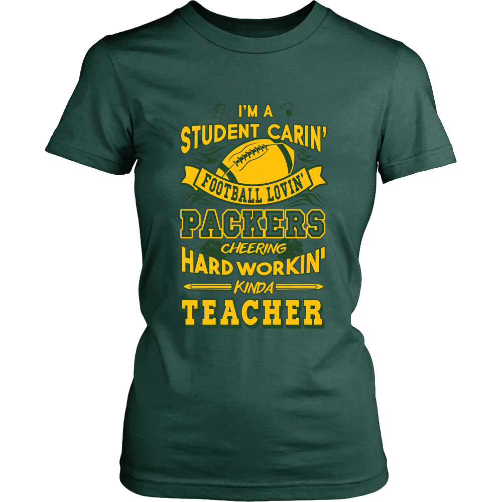 Student Caring Loving Packers Teacher T-Shirt - Packers Teachers Shirt - TeeAmazing