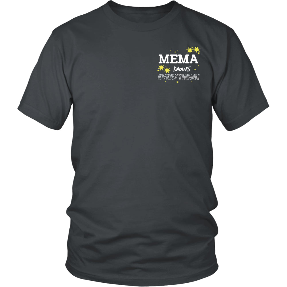 Mema Knows Everything T-Shirt -  Mema Shirt - TeeAmazing