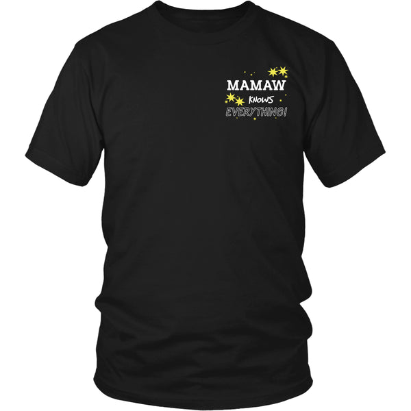 Mamaw Knows Everything T-Shirt -  Mamaw Shirt - TeeAmazing - 9