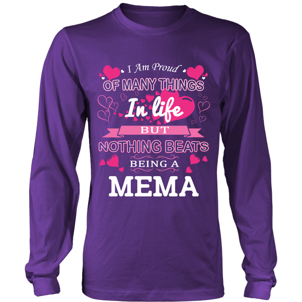 Nothing Beats Being a Mema T-Shirt - Mema Shirt - TeeAmazing - 6