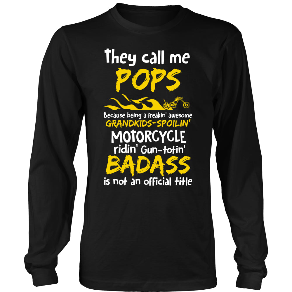 They Call Me Pops Motorcycle T-Shirt - Pops Motorcycle Shirt - TeeAmazing