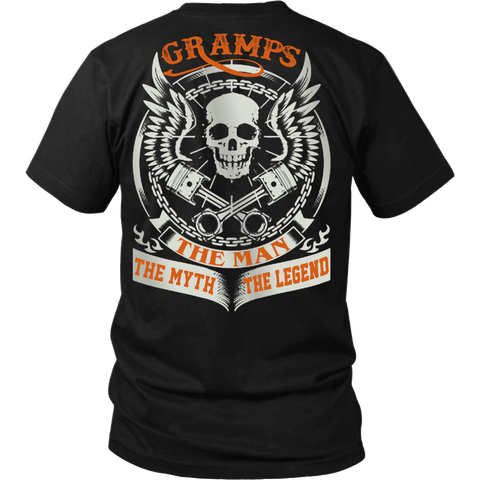 Gramps The Man The Myth The Legend T Shirts, Tees & Hoodies - Grandpa Shirts - TeeAmazing
