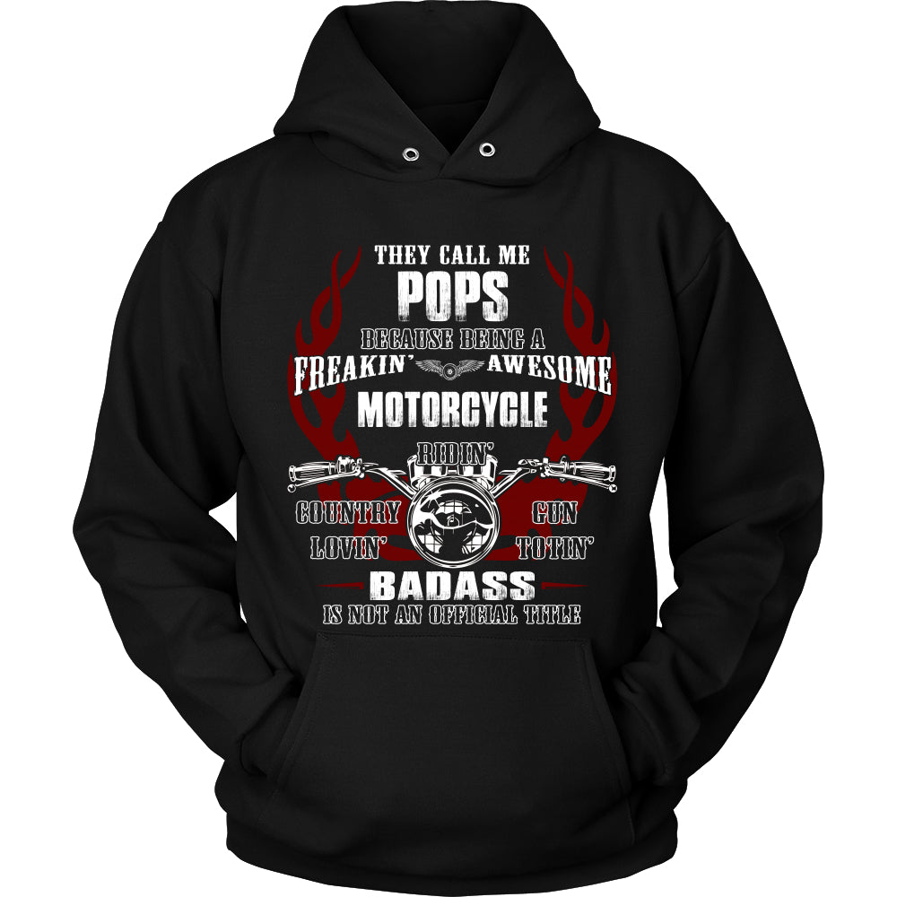 Badass Pops Motorcycle T-Shirt - Pops Motorcycle Shirt - TeeAmazing