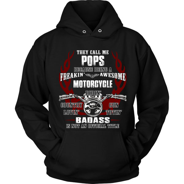 Badass Pops Motorcycle T-Shirt - Pops Motorcycle Shirt - TeeAmazing - 1