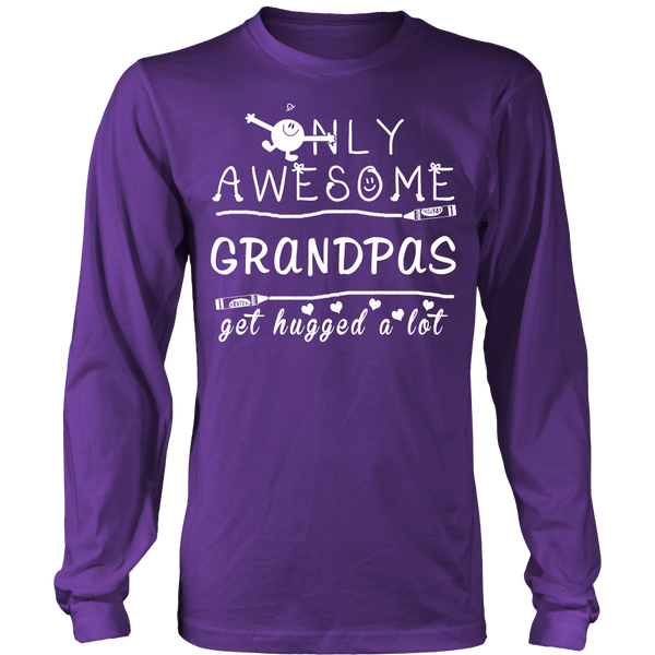 Only Awesome Grandpas Get Hugged A Lot T Shirts, Tees & Hoodies - Grandpa Shirts - TeeAmazing - 11