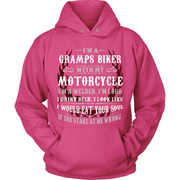 Gramps Biker With My Motorcycle T-Shirt - Gramps Motorcycle Shirt - TeeAmazing - 8