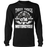 Three Things...My Motorcycle T-Shirt - Motorcycle Shirt - TeeAmazing
