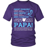 Just Call Papa T-Shirt - Papa Shirt - TeeAmazing