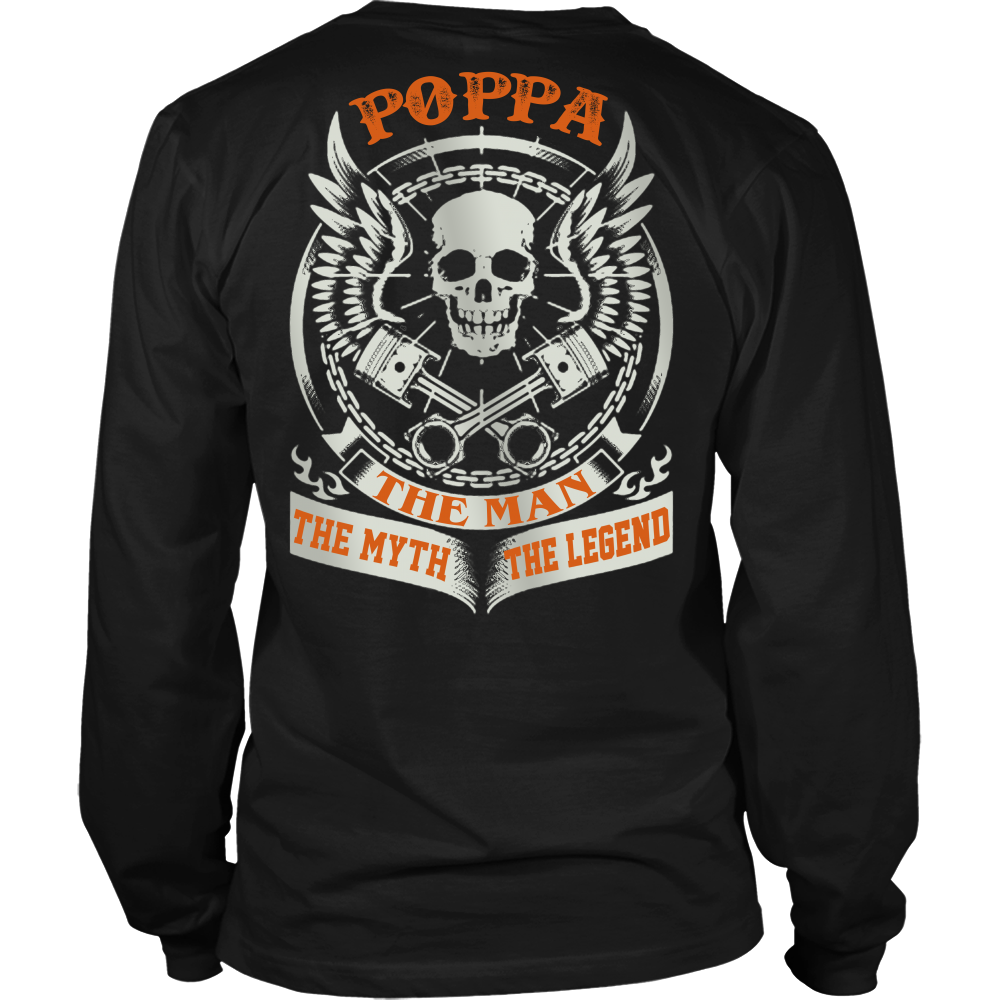 Poppa The Man The Myth The Legend T Shirts, Tees & Hoodies - Grandpa Shirts - TeeAmazing