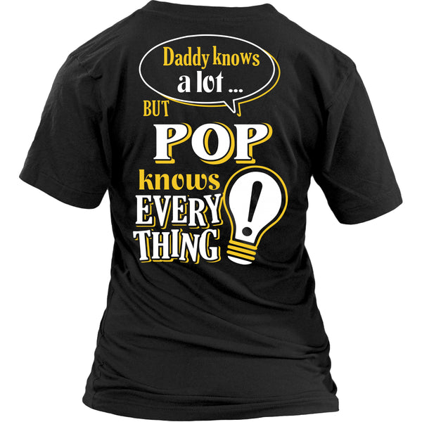 Pop Knows More T-Shirt -  Pop Shirt - TeeAmazing - 26