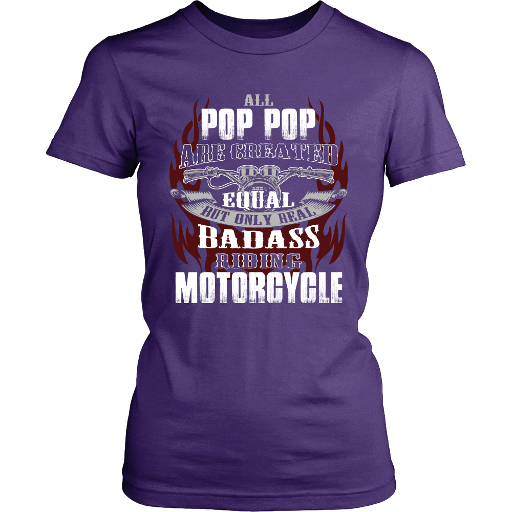 Created Equal Pop-Pop Motorcycle T-Shirt - Pop-Pop Motorcycle Shirt - TeeAmazing