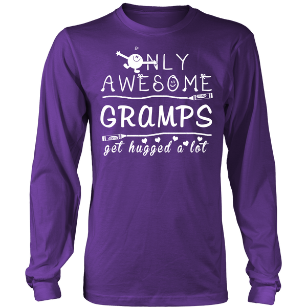 Only Awesome Gramps Get Hugged A Lot T Shirts, Tees & Hoodies - Grandpa Shirts - TeeAmazing - 11