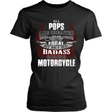 Created Equal Pops Motorcycle T-Shirt - Pops Motorcycle Shirt - TeeAmazing