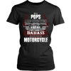 Created Equal Pops Motorcycle T-Shirt - Pops Motorcycle Shirt - TeeAmazing - 9