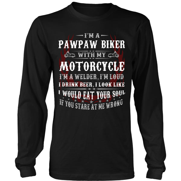 Pawpaw Biker With My Motorcycle T-Shirt - Pawpaw Motorcycle Shirt - TeeAmazing - 7