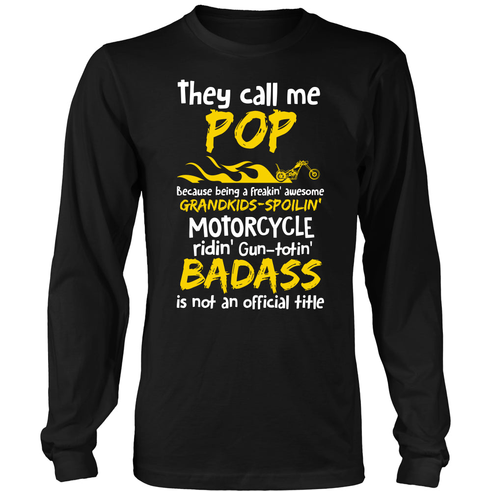Pops Biker With My Motorcycle T-Shirt - Pops Motorcycle Shirt DT5200