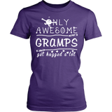 Only Awesome Gramps Get Hugged A Lot T Shirts, Tees & Hoodies - Grandpa Shirts - TeeAmazing