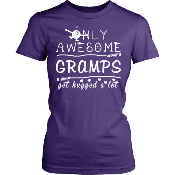 Only Awesome Gramps Get Hugged A Lot T Shirts, Tees & Hoodies - Grandpa Shirts - TeeAmazing - 19