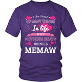 Nothing Beats Being a Memaw T-Shirt - Memaw Shirt - TeeAmazing