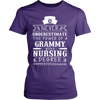 Never Underestimate Grammy Nursing T-Shirt - Grammy Shirt - TeeAmazing