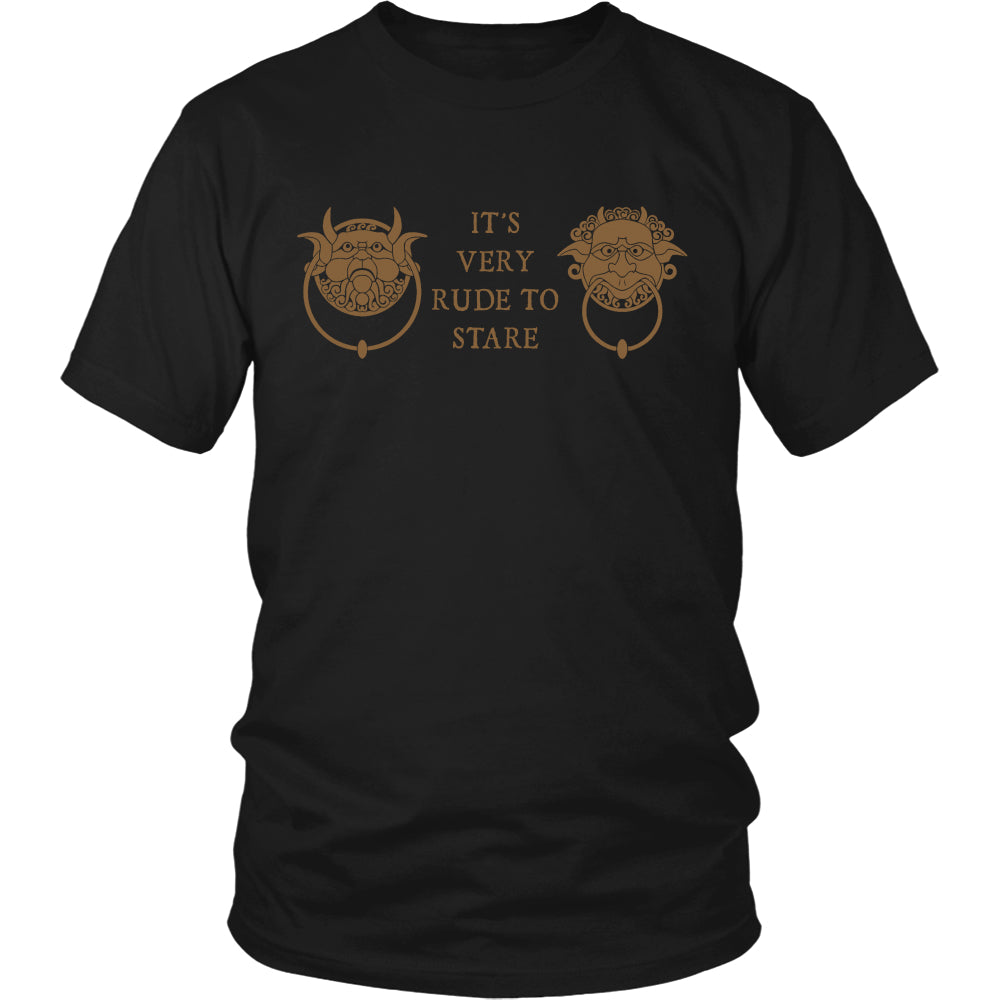 Door (It's Very Rude To Stare) T Shirts, Tees & Hoodies - Labyrinth Shirts - TeeAmazing