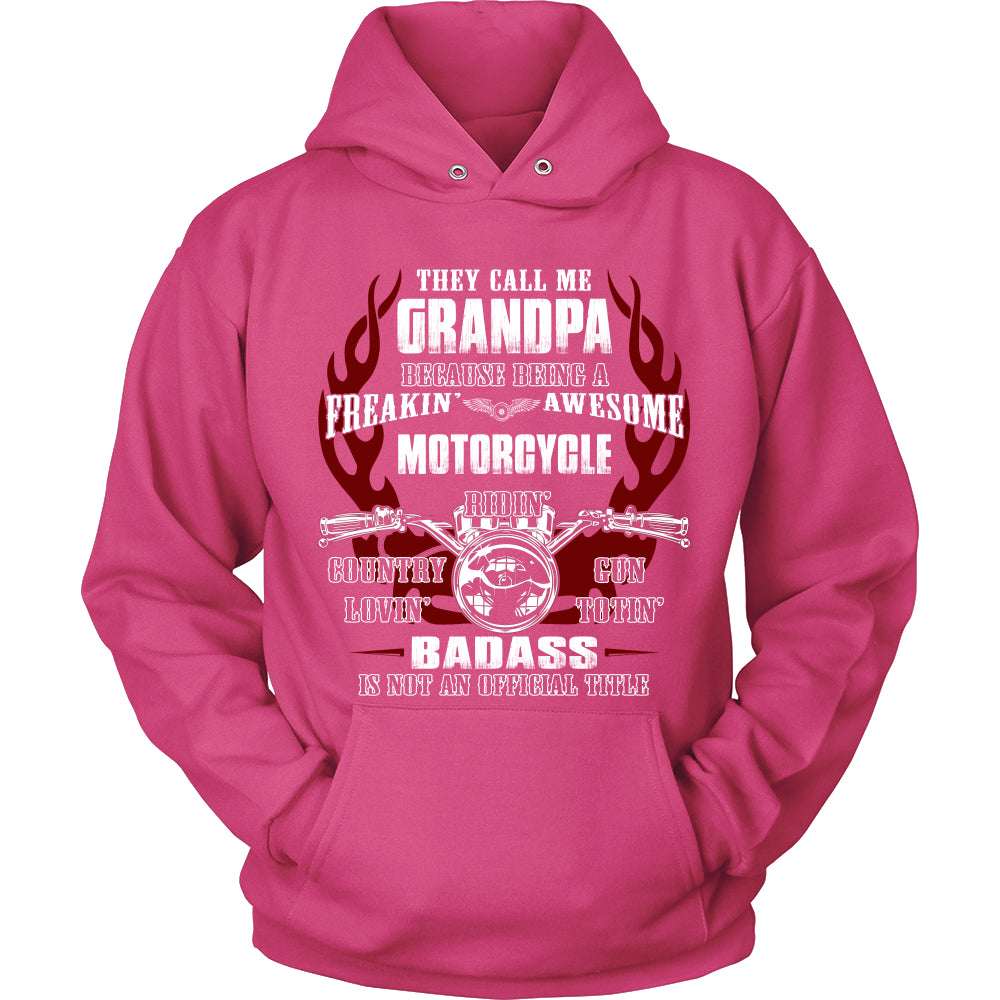 Grandpa Biker With My Motorcycle T-Shirt - Grandpa Motorcycle Shirt PC78H