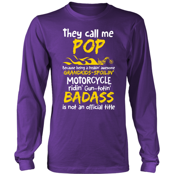 They Call Me Pop Motorcycle T-Shirt - Pop Motorcycle Shirt - TeeAmazing - 6