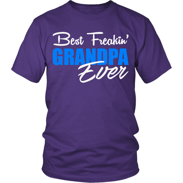 Best Freakin' Grandpa Ever T Shirts, Tees & Hoodies - Grandpa Shirts - TeeAmazing