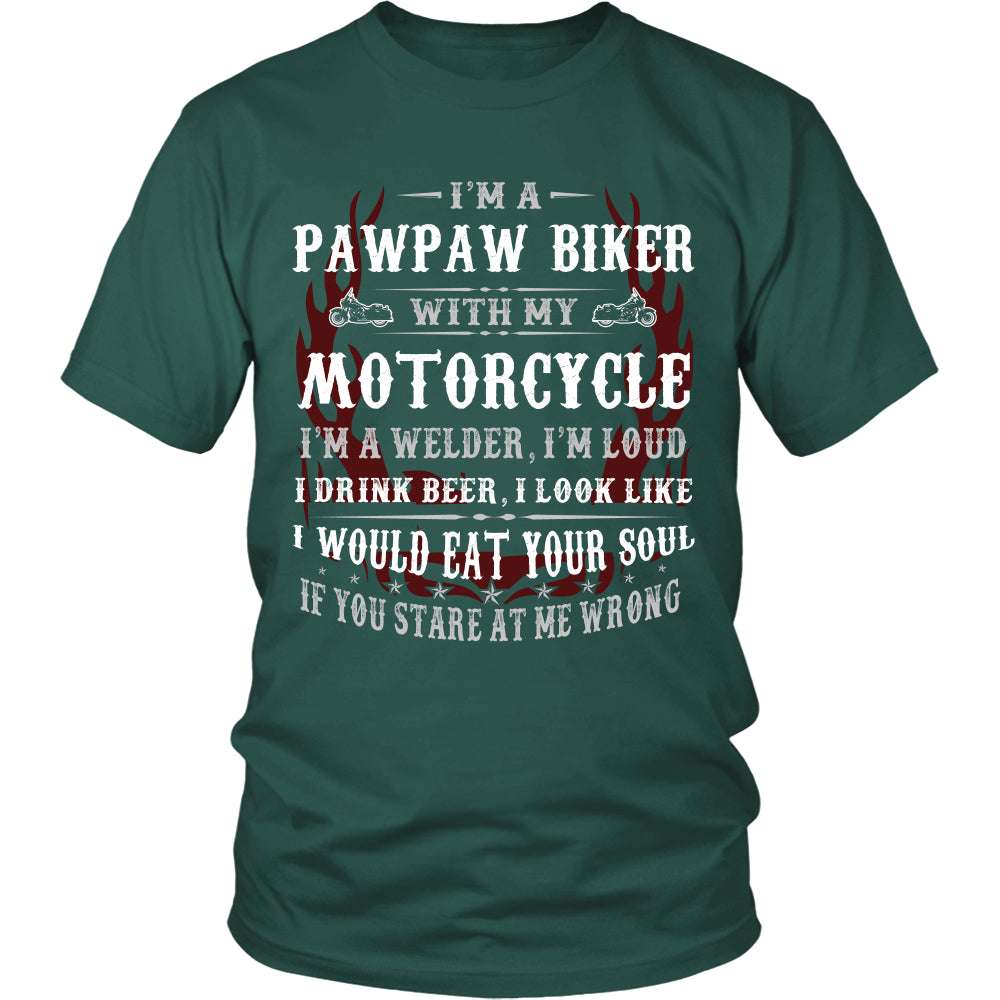 They Call Me Pawpaw Motorcycle T-Shirt - Pawpaw Motorcycle Shirt DT6000