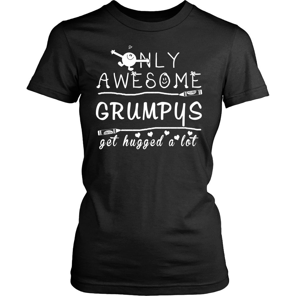 Only Awesome Grumpys Get Hugged A Lot T Shirts, Tees & Hoodies - Grandpa Shirts - TeeAmazing