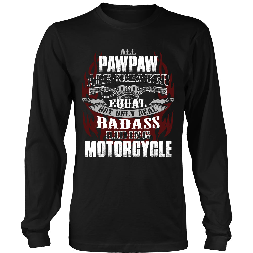 Created Equal Pawpaw Motorcycle T-Shirt - Pawpaw Motorcycle Shirt - TeeAmazing