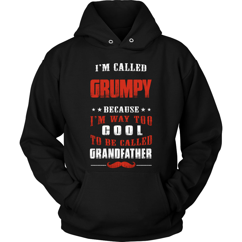 Grumpy Way Too Cool Grandfather T-Shirt - Grumpy Shirt - TeeAmazing