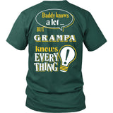 Grampa Knows More T-Shirt -  Grampa Shirt - TeeAmazing