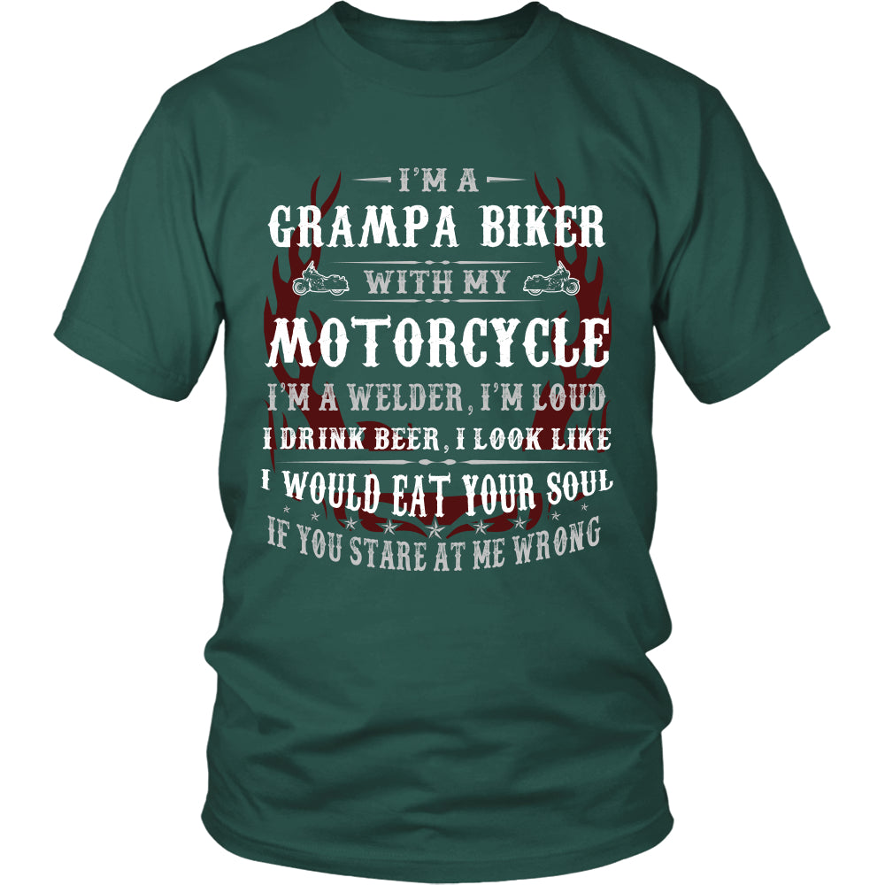 They Call Me Pops Motorcycle T-Shirt - Pops Motorcycle Shirt DT6000