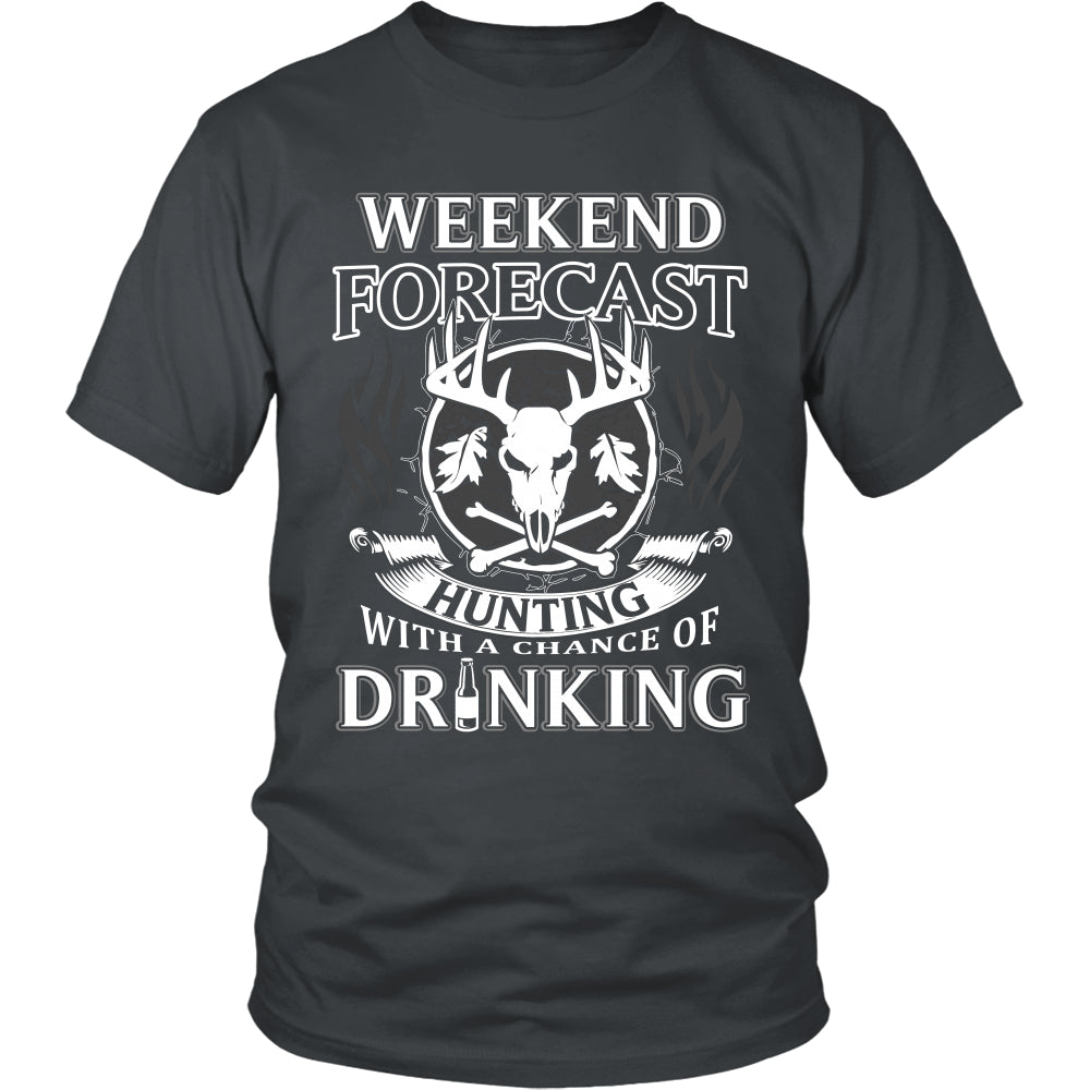 Hunting with a Chance of Drinking T-Shirt - Hunting Shirt - TeeAmazing