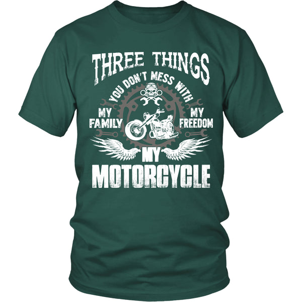 Three Things...My Motorcycle T-Shirt - Motorcycle Shirt - TeeAmazing - 4