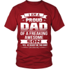 I Am A Proud Dad, Son T Shirts, Tees & Hoodies - Dad Shirts - TeeAmazing - 3