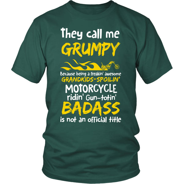 They Call Me Grumpy Motorcycle T-Shirt - Grumpy Motorcycle Shirt - TeeAmazing - 3
