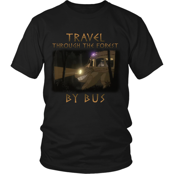 Travel Through The Forest By Bus T Shirts, Tees & Hoodies - Totoro Shirts - TeeAmazing - 1