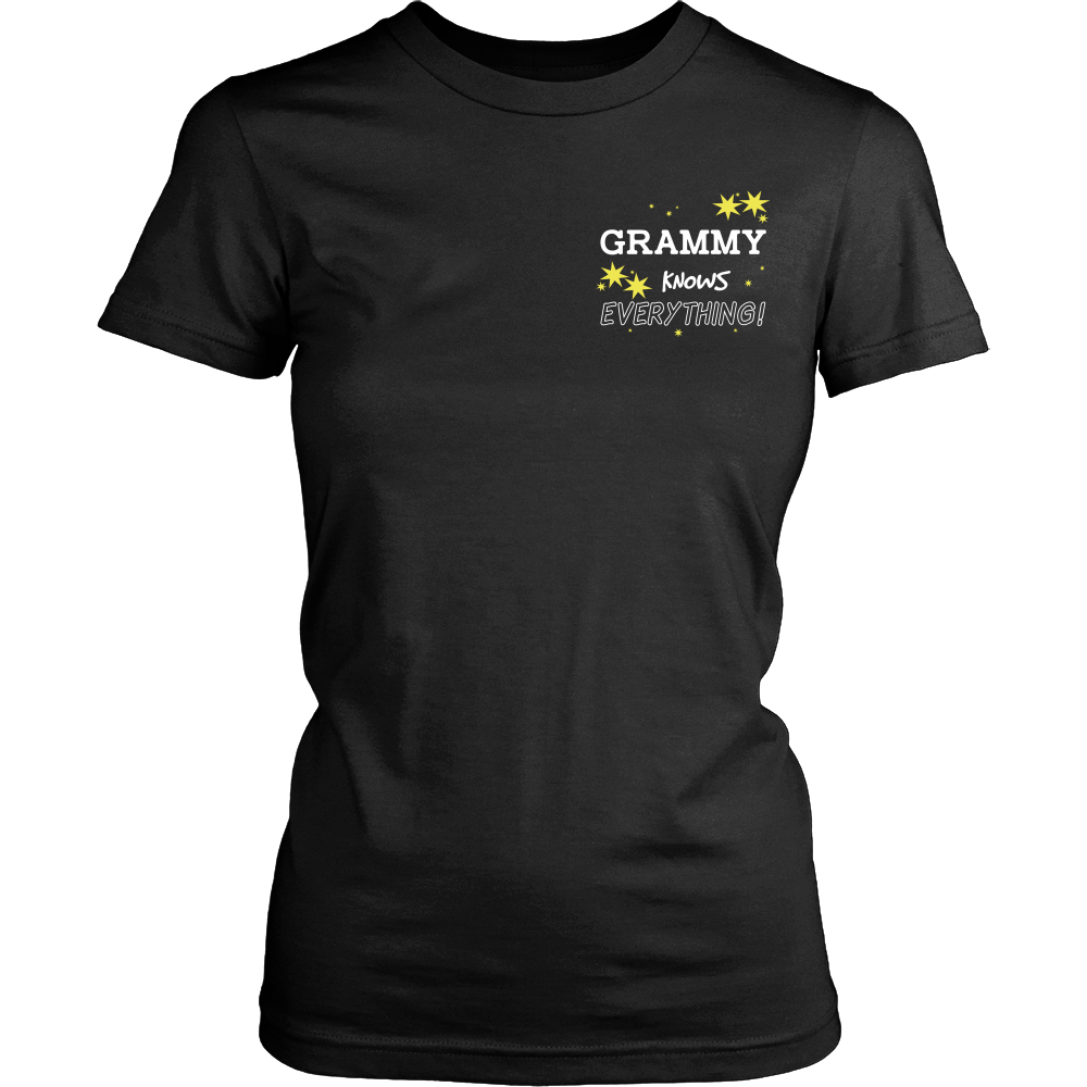 Grammy Knows Everything T-Shirt -  Grammy Shirt - TeeAmazing