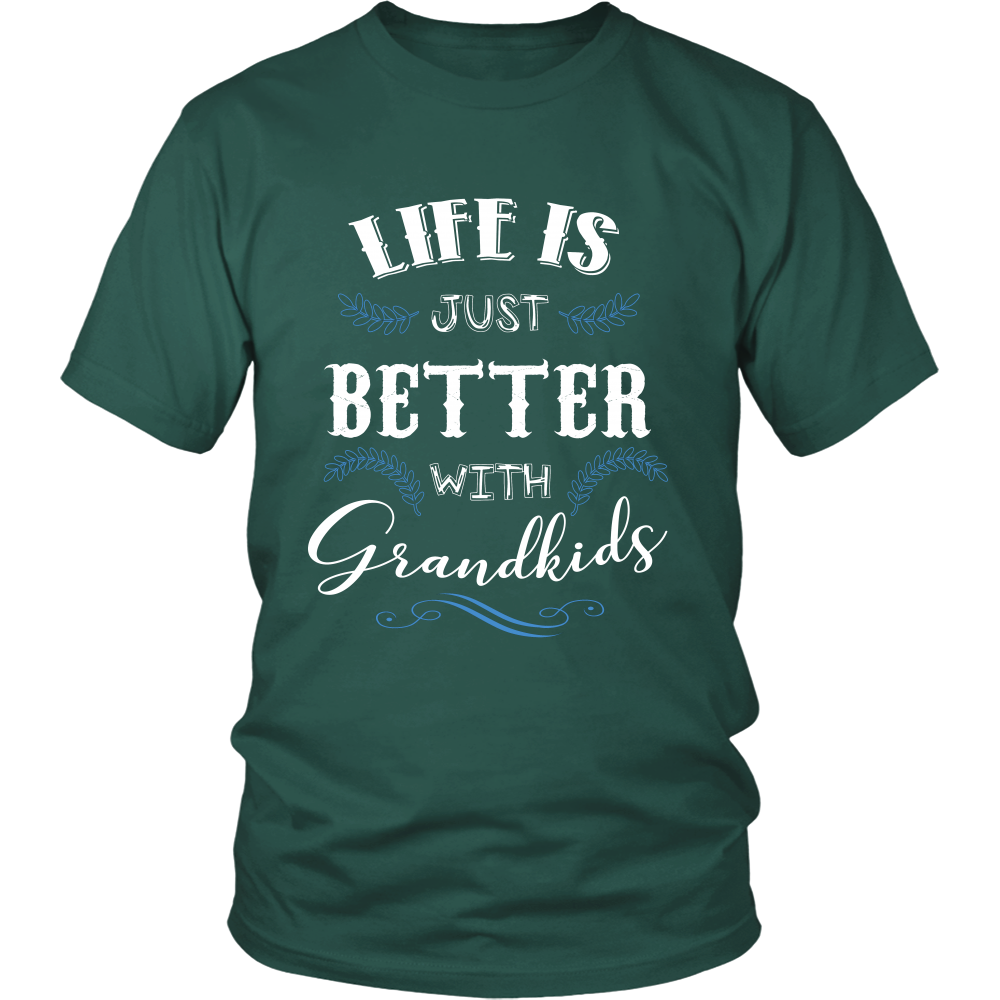 Life is Just Better With Grandkids T Shirts, Tees & Hoodies - Grandma Shirts - TeeAmazing