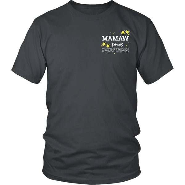 Mamaw Knows Everything T-Shirt -  Mamaw Shirt - TeeAmazing - 7