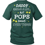 Pops Knows Everything T-Shirt -  Pops Shirt - TeeAmazing