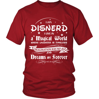Disnerd Live in a Magical World T-Shirt - Disnerd Shirt - TeeAmazing