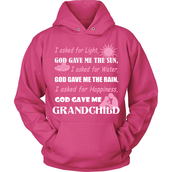 God Gave Me Grandchild T-Shirt - Grandma Shirt - TeeAmazing - 8